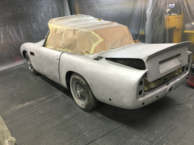Aston Martin DB6 Volante Restoration -All paint and filler removed