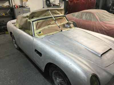 Aston Martin DB6 Volante Restoration -All filler and paint removed and panel gaps soon to be addressed