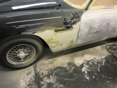 Aston Martin DB6 Volante Restoration -Lots of filler and paint to remove
