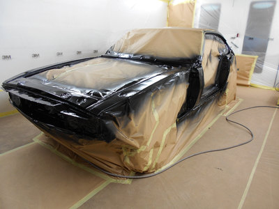 Aston Martin DBS Restoration - epoxy applied to the front