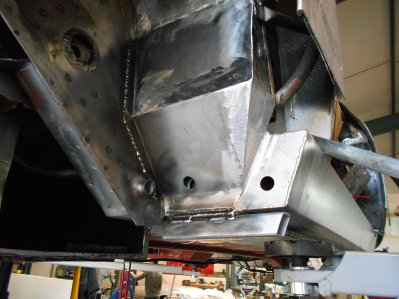 Aston Martin DB6 Volante Restoration -right hand rear suspension point replacement complete