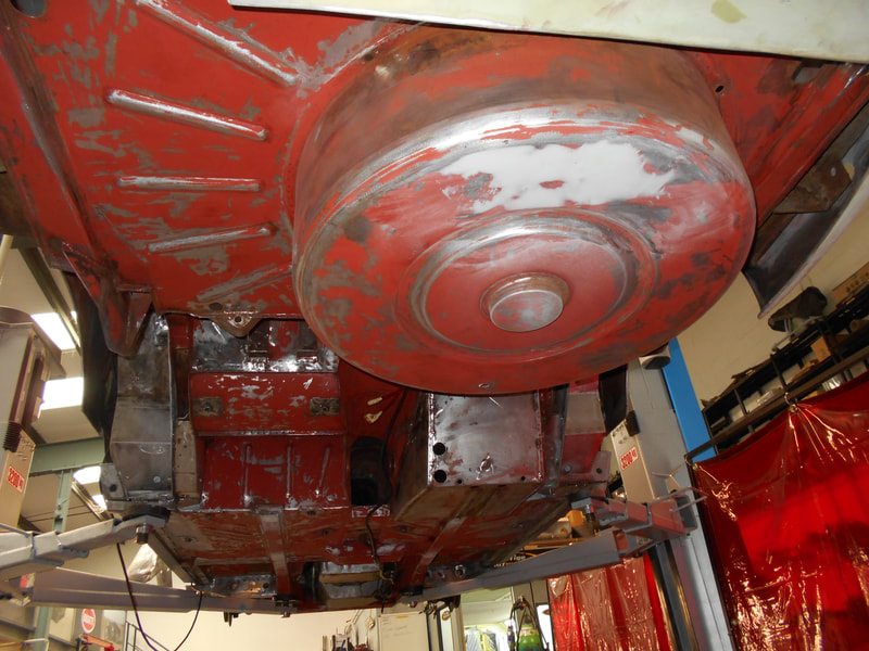 Aston Martin DB6 Volante Restoration -underseal removed