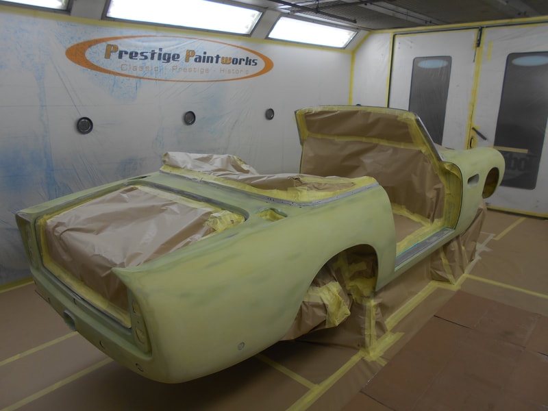 Aston Martin DB6 Volante Restoration -masked for poly primer