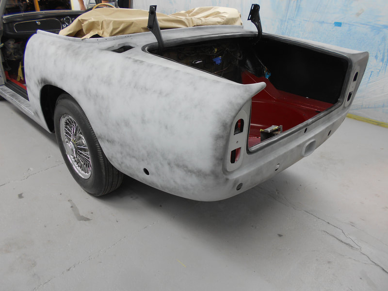 Aston Martin DB6 Volante Restoration -rear in poly