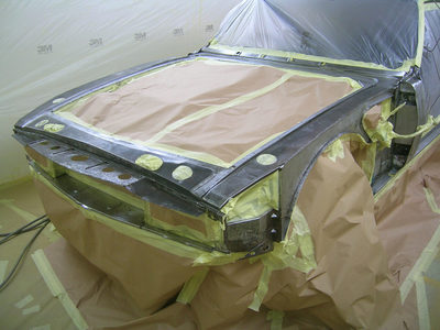 Aston Martin DBS Restoration - ready for a coat of epoxy