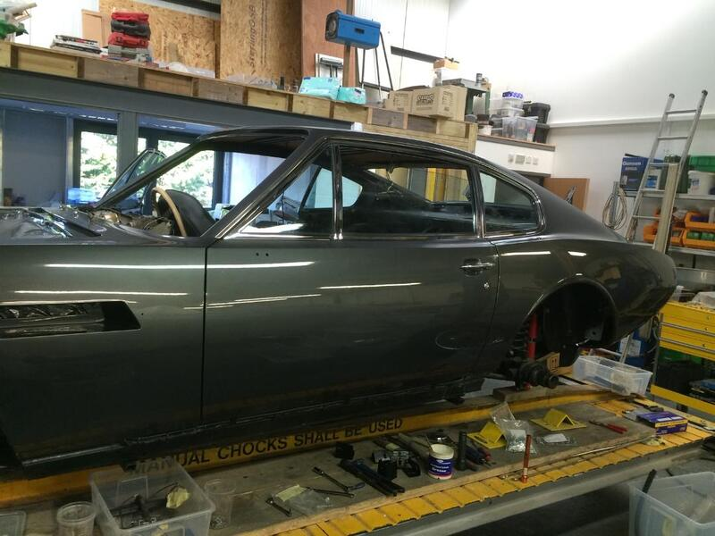 Aston Martin DBS Restoration - Early stage of refit