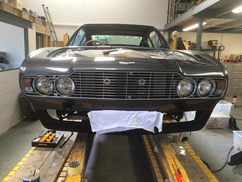 Aston Martin DBS Restoration - front refit nearly complete