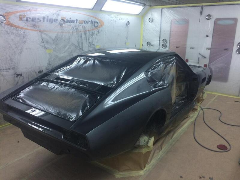 Aston Martin DBS Restoration - in top coat colour of Pearl Black - 1