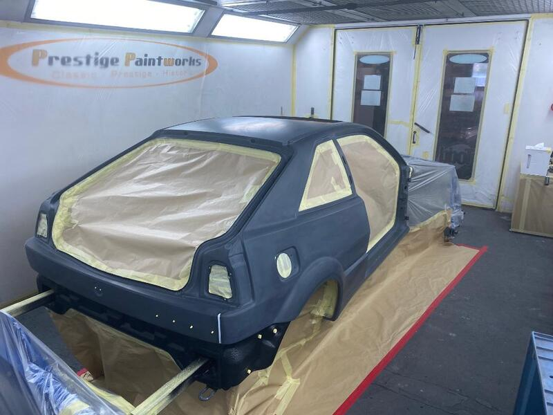car masked ready for wet on wet primer